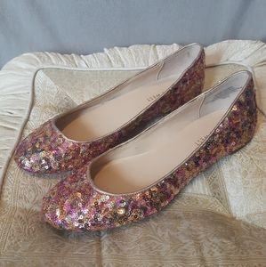 Nine West Sparkle Flats EUC